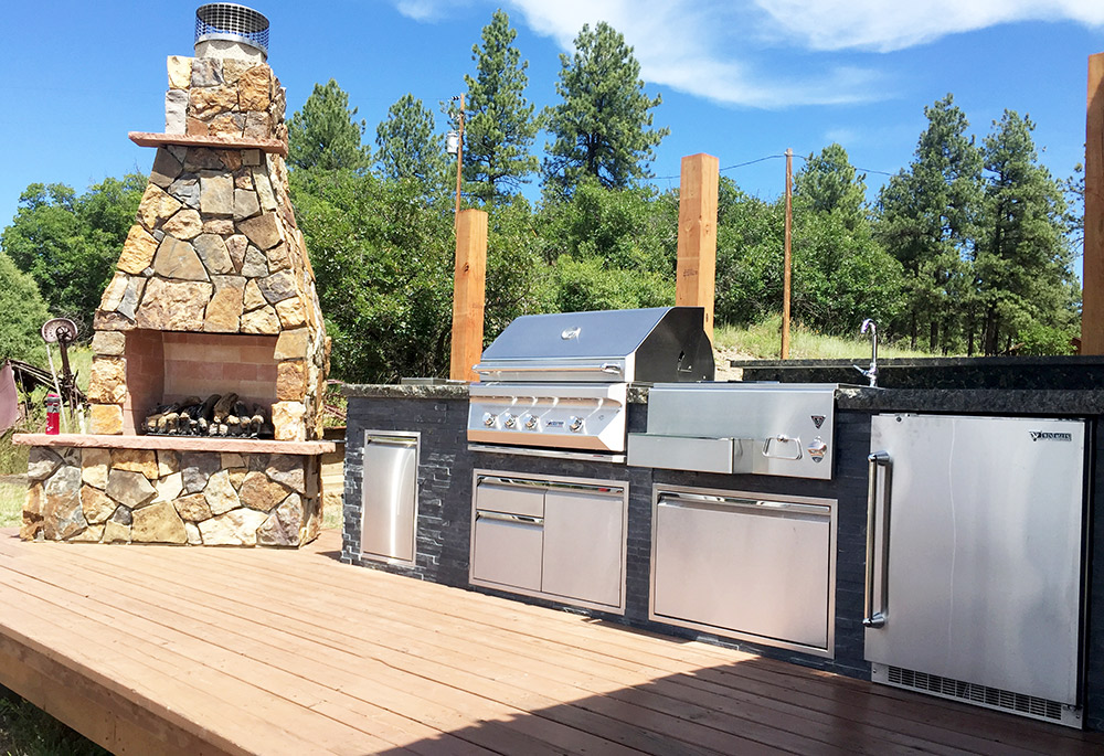 Gallery wide section of fireplaces your local for Kitchen and bath showrooms colorado springs